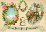 Victorian Frames - Wreaths with doves and flowers by rosepeonie