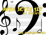 Music Notes set of 10 by byrnfri-resources