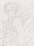 Natsu Dragneel after his fight against Jellal by roojercurryninja