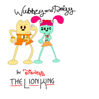 Wubbzy and Daizy in Disney's The Lion King by TheDisney1901atDA