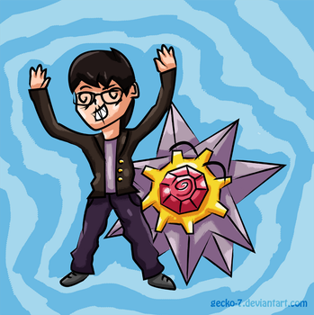 Hodelino and his Starmie by Gecko-7