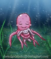 a Pink Octopus XD by DarkChocaholic