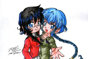 Moon Song: Lime and Ruriko by darkmotives