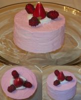 Raspberry cake by Xandraluv