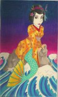 Geisha Mermaid by the-punk-hippie