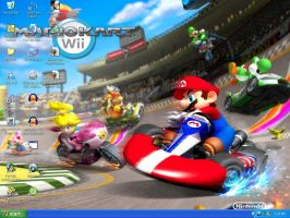 Mario Kart Wii Wallpaper by xFlowerstarx