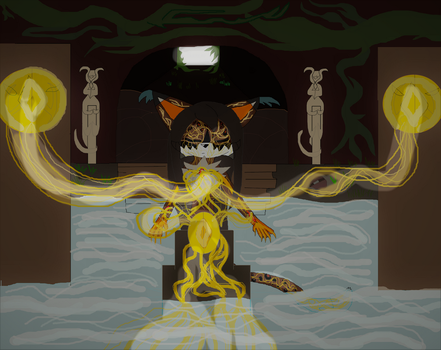 Khajiit's Chi magic beginings by DarkCatTheKhajjit
