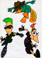 Alt. Phineas and Ferb Colored by PhineasPhan1