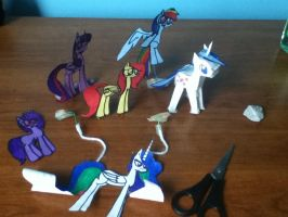 Pony Paper Crafting by Ninetailsofawesome