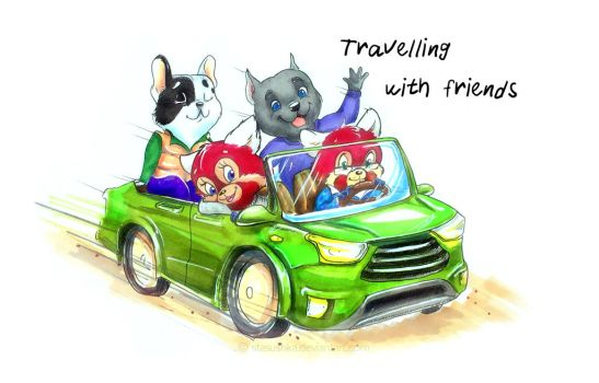 Travelling with friends by Stasushka