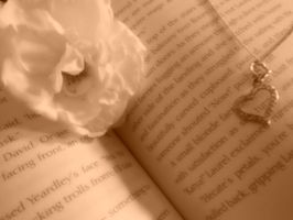 Rose in book - soft sepia by TaitRochelle
