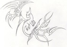 Tiny Tribal Drake by Scit