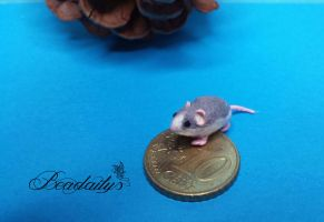 Rat modelled from Polymer Clay by Beadailys