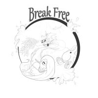 Break Free-Lineart by AshDayArt