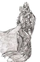 catwoman and batman kiss by masterlee24