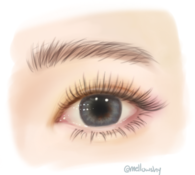 Realistic eye study by mellowshy