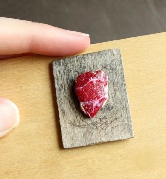 1:12 Scale Raw Meat by fairchildart