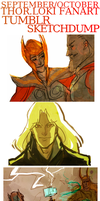 Thor Sketchdump by feyuca