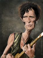 Keith Richards by markdraws