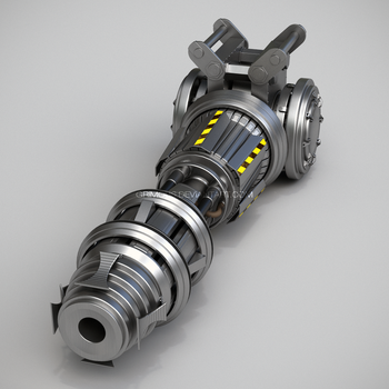 Shard Cannon WIP 1 by Grimous3D