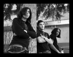My buddies, in Opeth pose. by Marichromatic