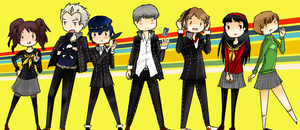 persona4 chibis by tuch-nin