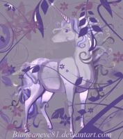 Lilac Unicorn by biancaneve81