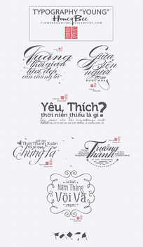 TYPOGRAPHY YOUNG by Honey Bee (Flowerroad1501) by FlowerRoad1501