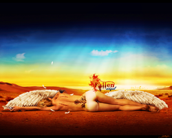 Fallen Angel wallpaper - plain by McSlither