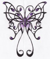 Butterfly Tattoo Design by Freakwithissues007