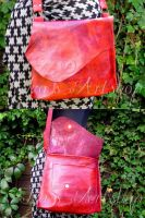 Crimson Glory leather hip bag by izasartshop