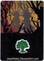 Altered Magic Card Forest by JessWells
