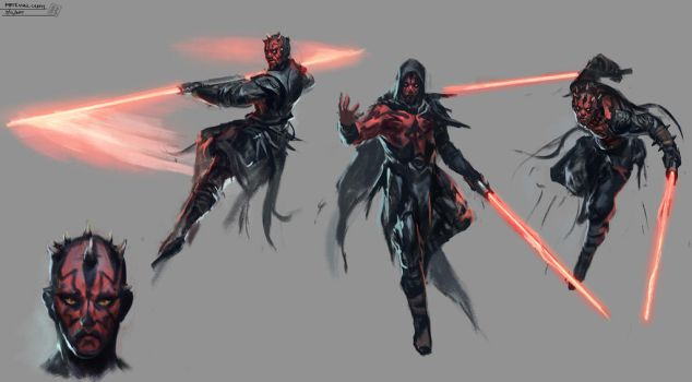 Darth Maul sketches by Raph04art
