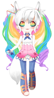 Rainbow Adopt -- AUCTION [CLOSED] by chickenisntmystyle