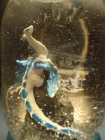 White Dragon Snow Globe by piperpolymer