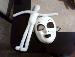 My Mask of Totheark and my Slenderdoll by KaylaCullen