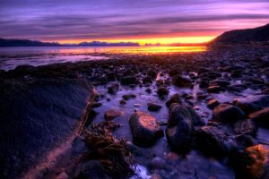 Norwegian Sunset by Heimstrekka