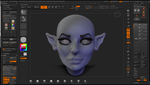 Zbrush Freestyle: Elf Female Head by grico316