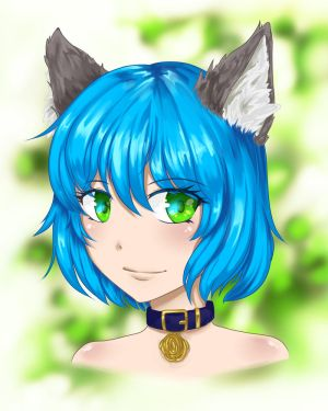 .Commission. Wolfgirl by Noire-Ighaan