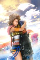 My new ID - Yuna and Tidus by twinkelsparky1