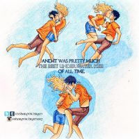Percabeth underwater kiss by Sharsel