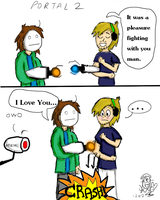 PewdieCry - Portal 2 - I Love You... by nurmuzdalifah