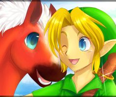 Link and Epona by PuddingPlushiePalace