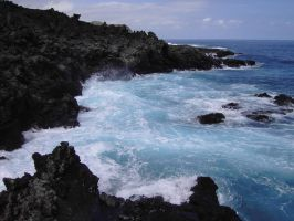 ocean with cliff 2 by maryllis-stock