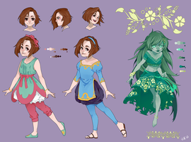Character sheet: Laearis by Apomix