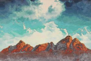 Mount and Sky by SamiraEmelie