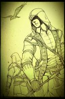 Connor with Ezio by 1001yeah