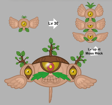 Grass-type Magnemite Family by skeppio
