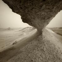 Qatar - Zekreet - 22 - Hole in a limestone hill by GiardQatar