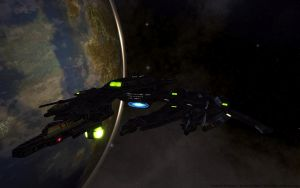 Starship Hyperion - Breen Warship by thypentacle